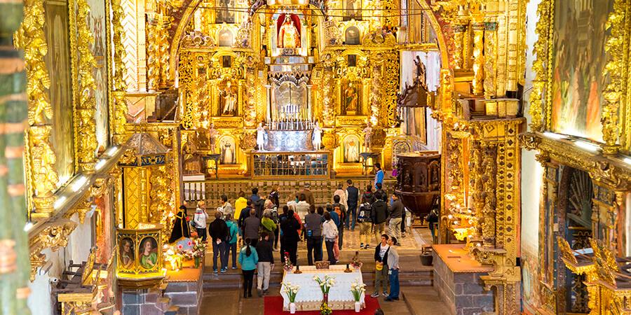 Iglesia de andahuaylillas por interior