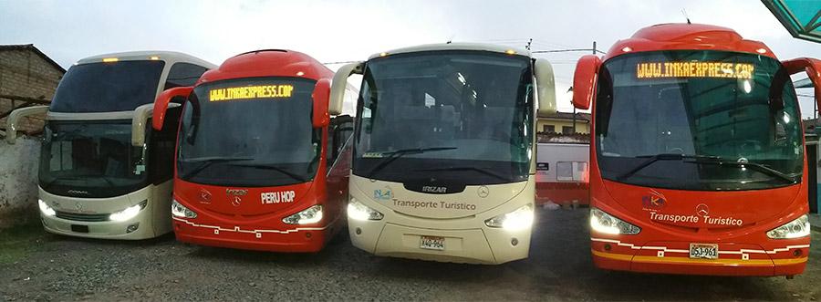 Flota de buses de Inka Express